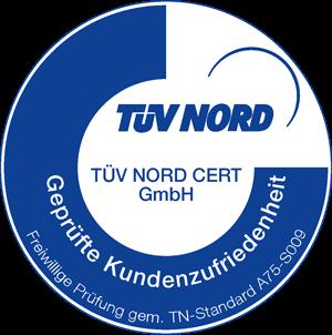 TÜV Nord Cert - Geprüfte Kundenzufriedenheit